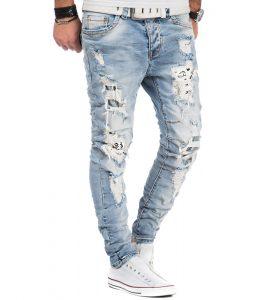 6903-jean-fashion-et-dechire-pour-homme-bleu-clair-avant