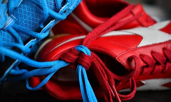Des lacets de couleur bleu pour stimuler votre humeur!