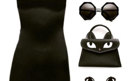 Un total look noir avec le sac à main ?