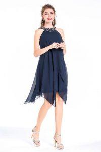 fe041b07178b0 Robe de soirée bleue marine, quelle couleur de chaussure l'accompagner?