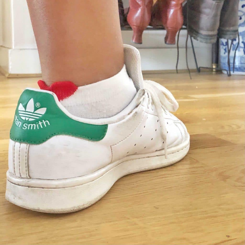 Chaussettes coeur et basket